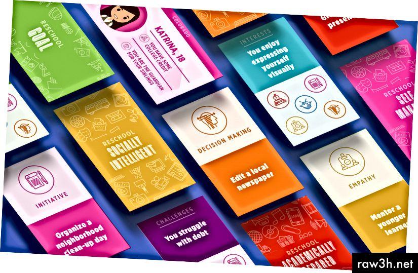 Играта ReSchool е базиран на карти инструмент за обучение, който създадохме да помогнем на участниците да проучат възможностите на нови пътища за учене - http://reschoolcolorado.org/