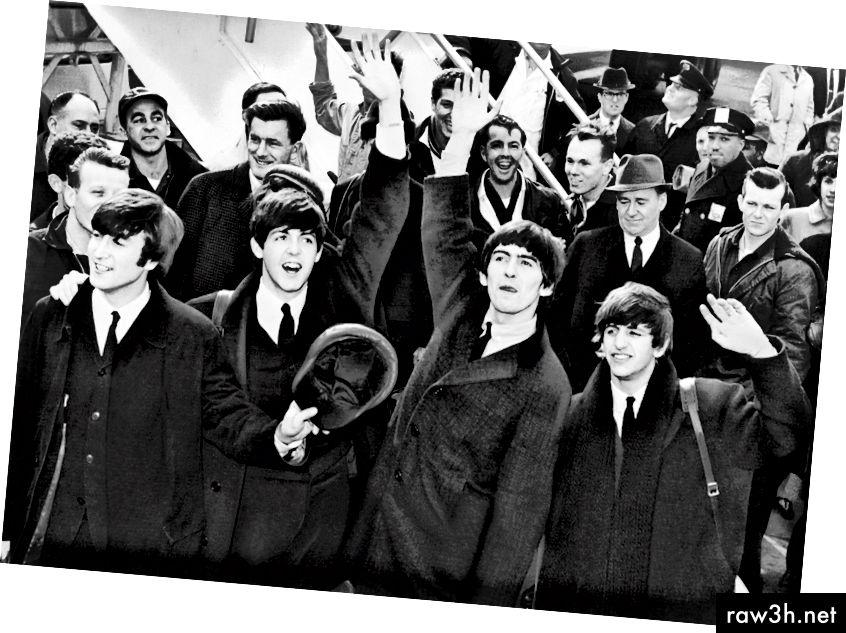 البيتلز في نيويورك ، 1964. الصورة: Pixabay.com
