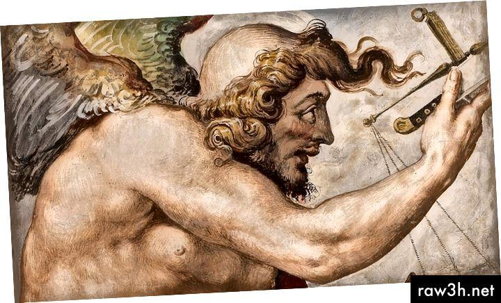 يمثل الإله كايروس هنا الفرصة المناسبة للإقناع. عندما يقترب منك ، يكون من السهل الاستيلاء على شعره على جبينه ، لكن عندما يفوت الأوان ويمر بك ، تتركك تدركه في مؤخرة فروة رأسه الصلعاء. فرص الحوار المثمر سوف تقدم نفسها دائمًا ولكن يجب أن نكون يقظين ومرحبين.