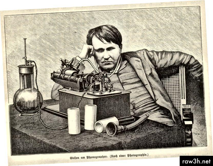 جرب توماس إديسون خيوط مختلفة لابتكار مصابيح كهربائية.