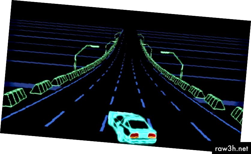 Neon Race Flash Game Environment of Universe