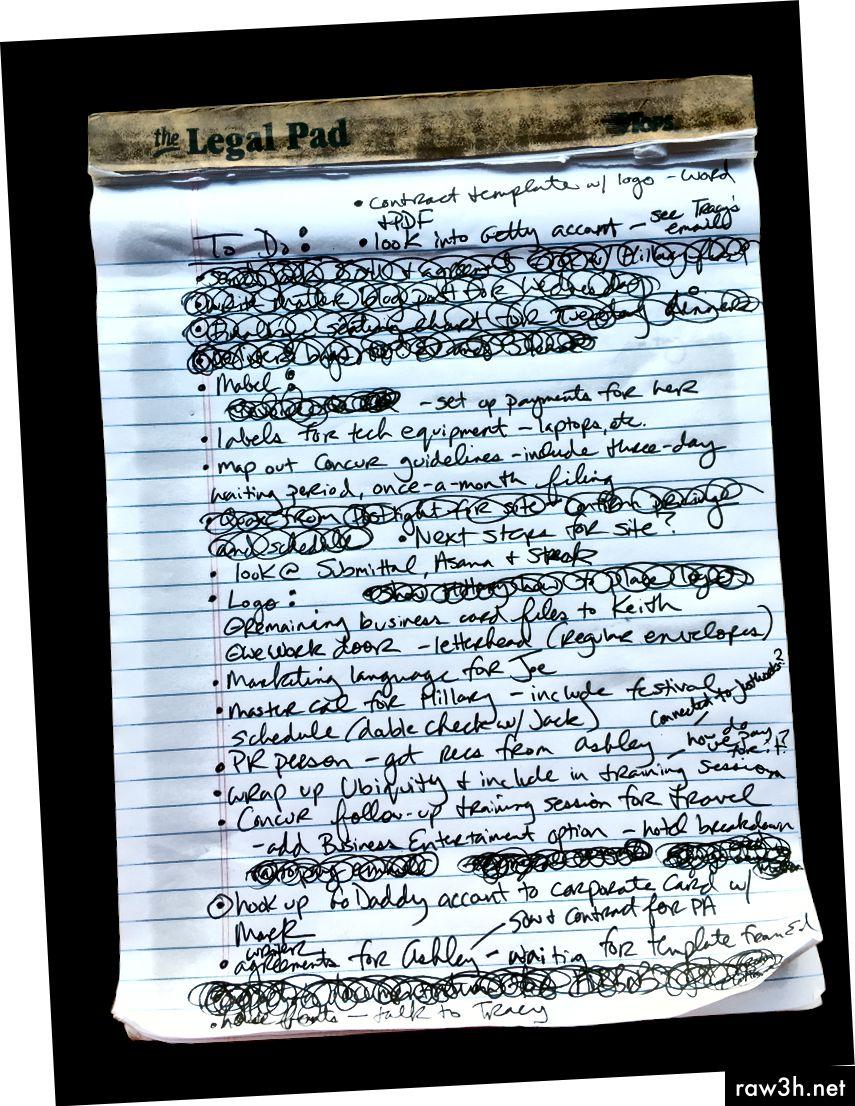 Vlevo: Podrobnosti o domech notebooků, které musí žít trvale. Vpravo: Dnešní seznam úkolů.