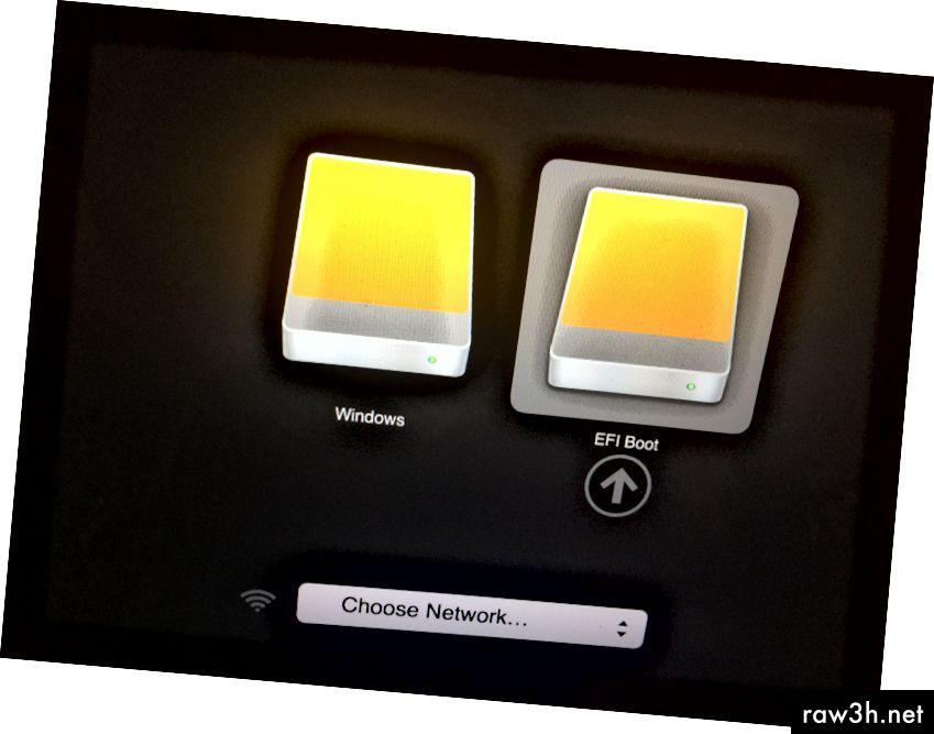 Начален екран при зареждане от MBUL диск.