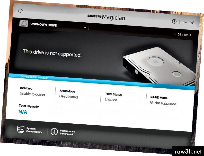 НЕИЗВЕСТЕН ДВИГ. Това устройство не се поддържа. НЕВАЛИДЕН СЕРИЕН НОМЕР. Интерфейс: Не може да се открие. AHCI режим: деактивиран.