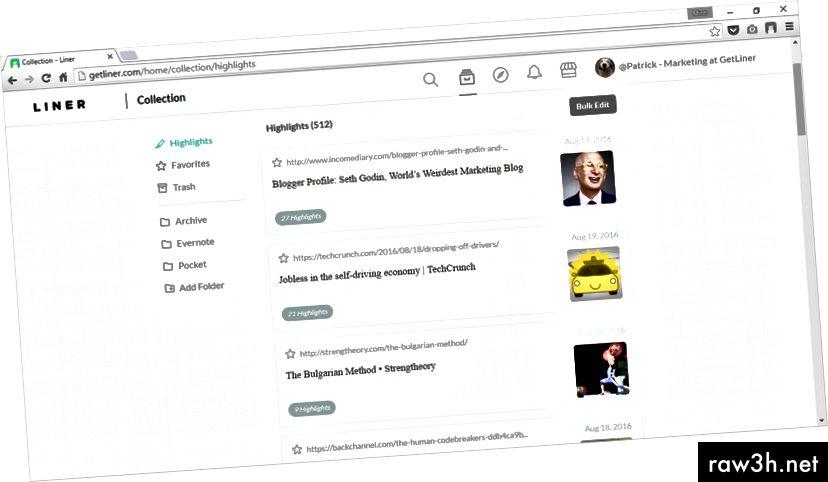 اينر ويب هوم - http://getliner.com/home
