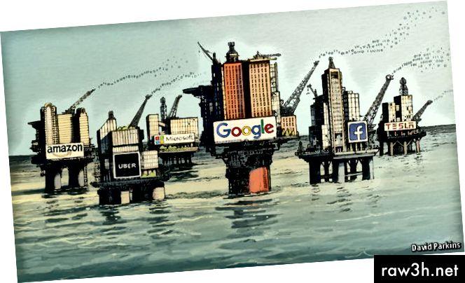 प्रतिमा 4: डेटा, नवीन तेल, सिलोसमध्ये आहे. (स्रोत: डेव्हिड पार्किन्स अँड द इकॉनॉमिस्ट)