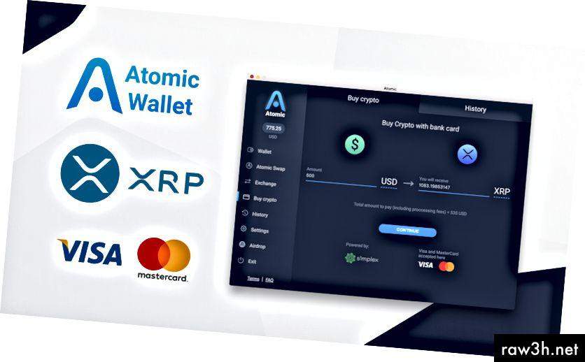Nem måde at udveksle din USD / EUR til XRP med kreditkort. Installer Atomic.
