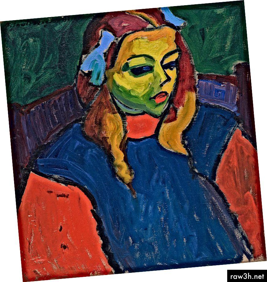 فتاة ذات الوجه الأخضر ، 1910 ، أليكسي فون جولينسكي. الصورة: أليكسي فون جولينسكي / ويكيميديا كومنز