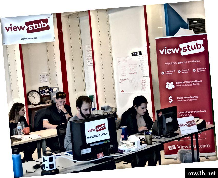 ViewStub, членове на коворкинг пространството на Neoware Studios в Oviedo, FL, превърнаха в брандирането и фирмената култура акцент в работното си пространство.