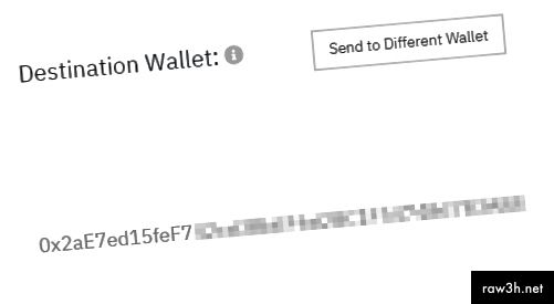 تأكد من أن محفظة وجهتك هي المحفظة الجديدة التي أدخلتها للتو