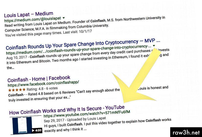 Resultats de la cerca de Google