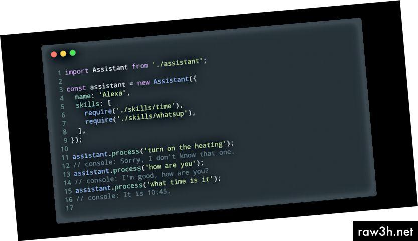 Основно използване на текстовата версия на помощника (index.js).