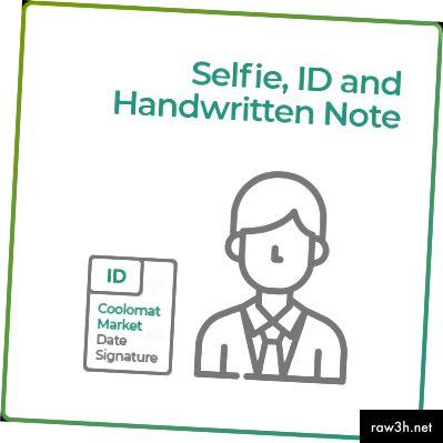 Selfie с лична карта и ръкописна бележка
