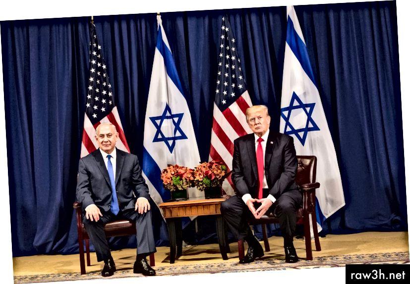 El primer ministre Netanyahu i el president Trump a les Nacions Unides