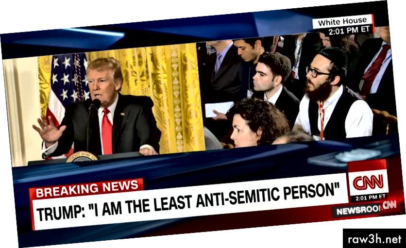 Un editor de llocs web neonazi va descriure aquesta conferència de premsa de Trump aquest 2017 com