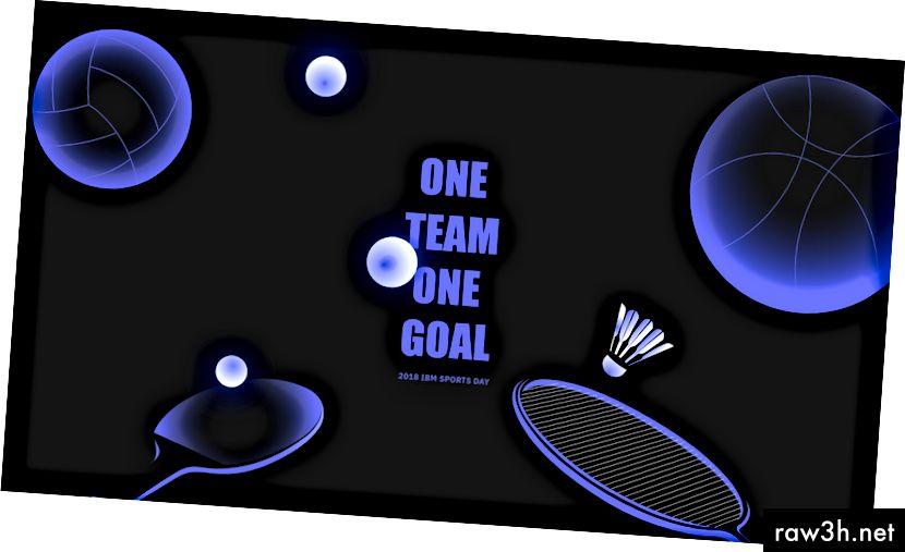 هدف واحد للفريق هدف واحد / يوم الرياضة في IBM