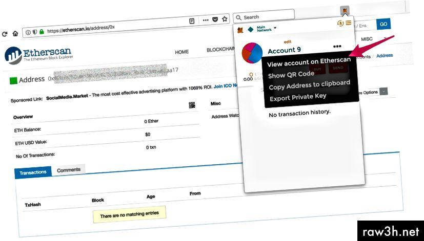 Преглед на портфейла ви в Blockchain Explorer (EtherScan)