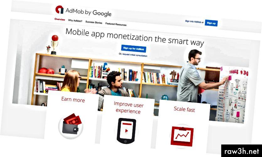 تسجيل الدخول إلى جوجل AdMob
