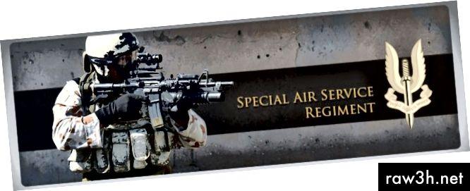 """Процесът на набиране на специална въздушна служба (SAS) е очевидно труден, тъй като 90% от новобранците не са избрали и по-нататъшен процент на изнемощ сред онези, които преминават и са """"значки"""", се провеждат в изпитателния период."""