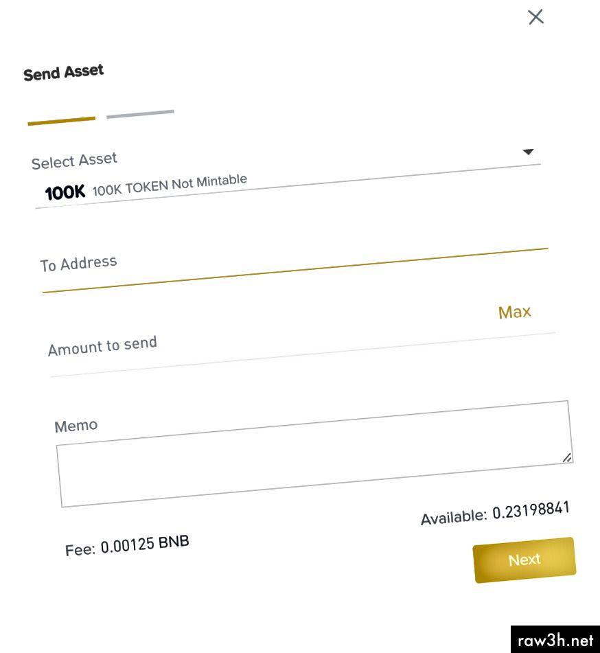 بعد الحصول على العنوان ، يمكنك نقل الرمز المميز عبر Web UI.