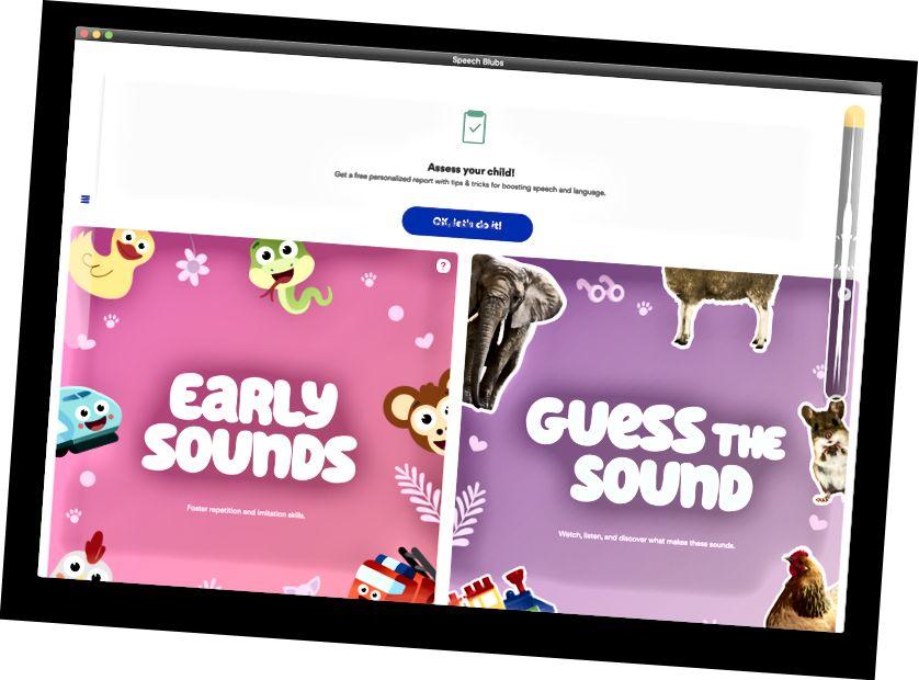 Primer llançament de l'aplicació Speech Blubs