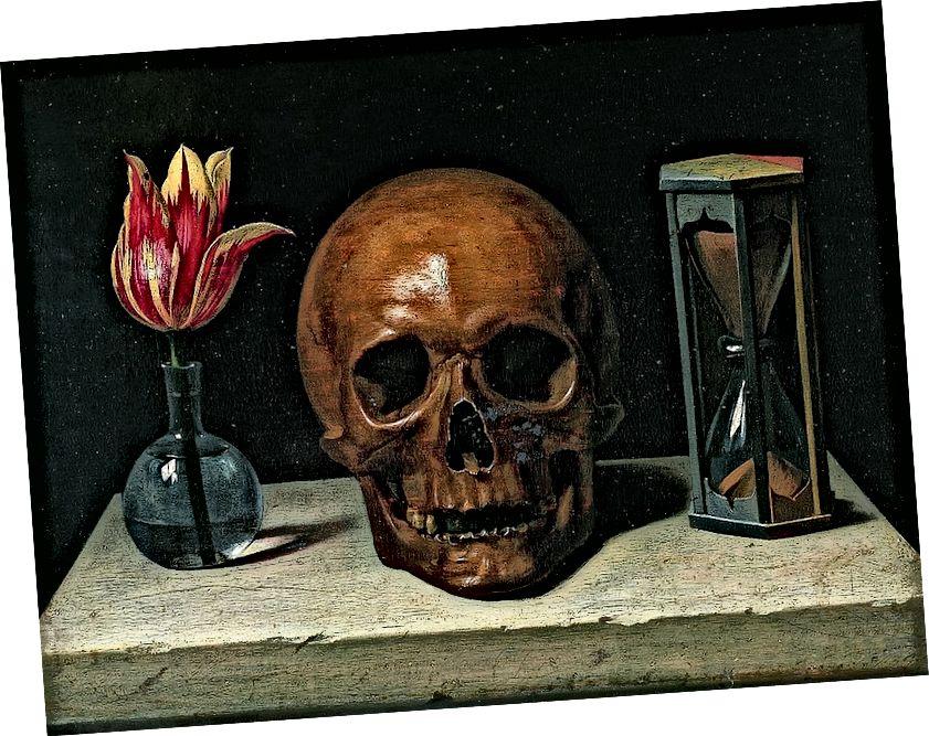 لا تزال الحياة مع الجمجمة - Phillippe de Champaigne c. 1671