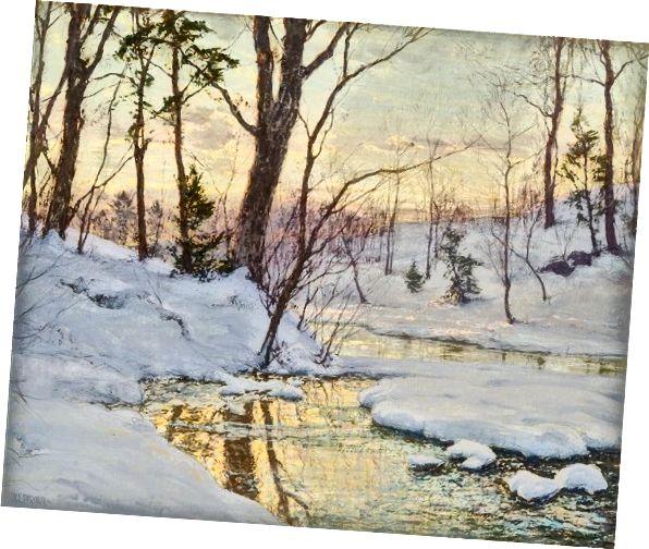 Stream w zimie przez Waltera Launta Palmera Źródło: http://www.artnet.com/artists/walter-launt-palmer/stream-in-winter-lMttX-EsVKD-o46-gC5Kpw2
