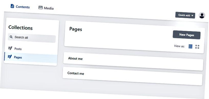 Válassza ki a szerkeszteni kívánt tartalmat, vagy adjon hozzá új oldalakat