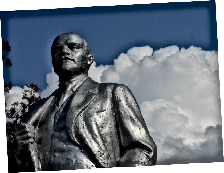 Vladimir Lenin-statue, Levakant, Khatlon.