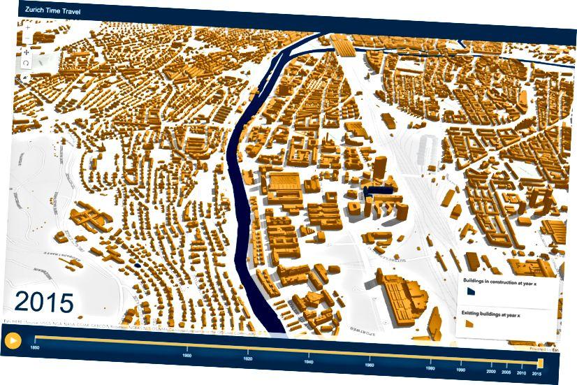 Η ίδια γειτονιά εμφανίζεται σε 2D (προοπτική ανώτατου επιπέδου) και 3D (κεκλιμένη προβολή).