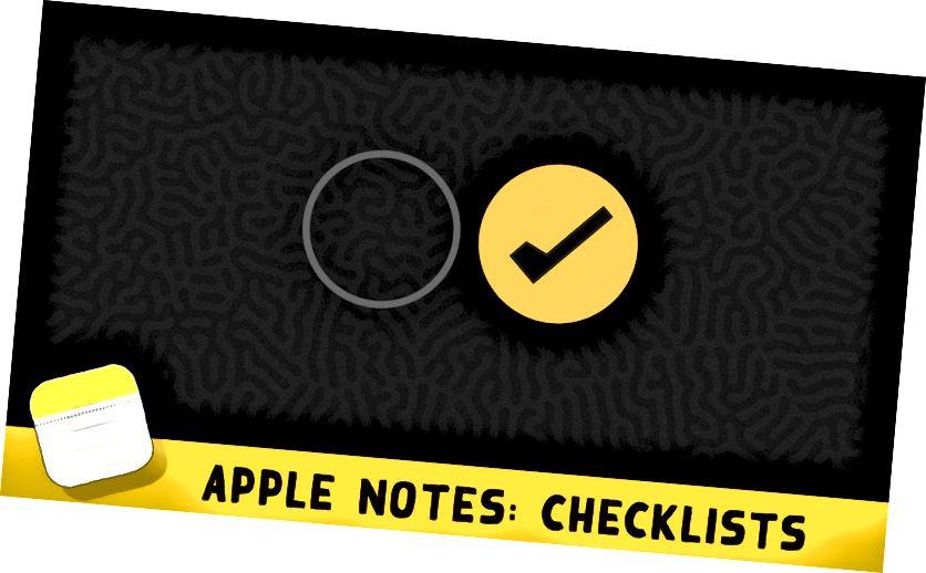 كيفية استخدام قوائم المراجعة في Apple Notes