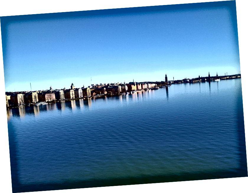 Una visione chiara della mia passeggiata a Stoccolma questa mattina.