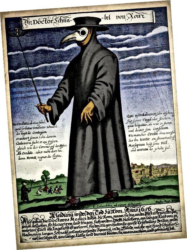 महामारी का डॉक्टर। छवि विकिमीडिया के सौजन्य से।