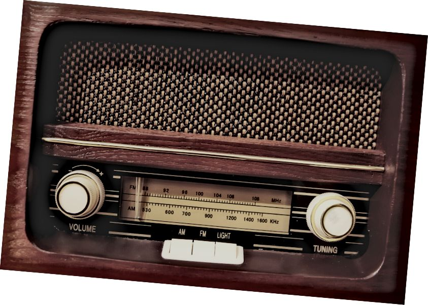 صوت الراديو الخاص بي كأنه إنذار الحريق: تهتز الأرضية ، وتهبط الجدران ، والباس يجعل طبلة أذني تبدو رقيقة. يبدو الصوت في رحلتي ، نعم في الأمام والخلف ... كنت تعتقد أنها كانت حفلة ، وليس كاديلاك! ~ LL Cool J 1985 ، لا يمكنني العيش بدون الراديو الخاص بي.