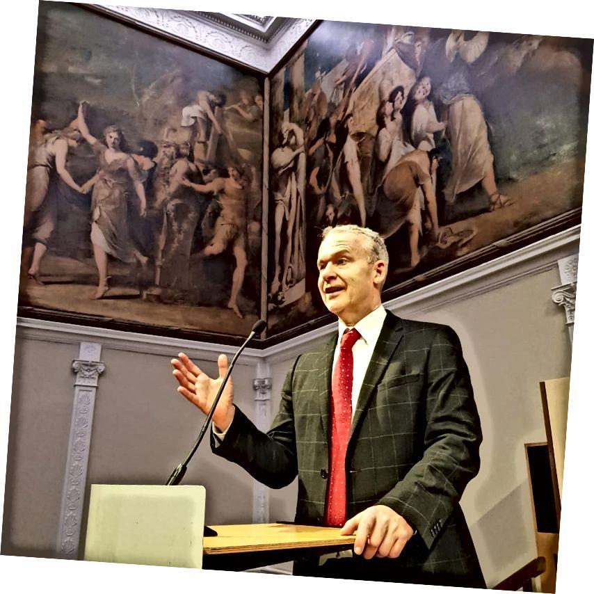 Andy Wilkins Πρόεδρος του Συνεδρίου Φόρουμ Στρατηγικής Διαχείρισης στη Βασιλική Εταιρεία Τεχνών του Λονδίνου
