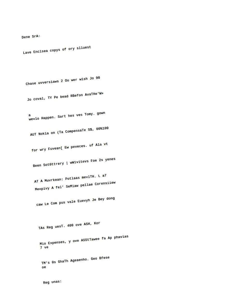 Tesseract: naskenovaný e-mail, ručně psaný dopis.
