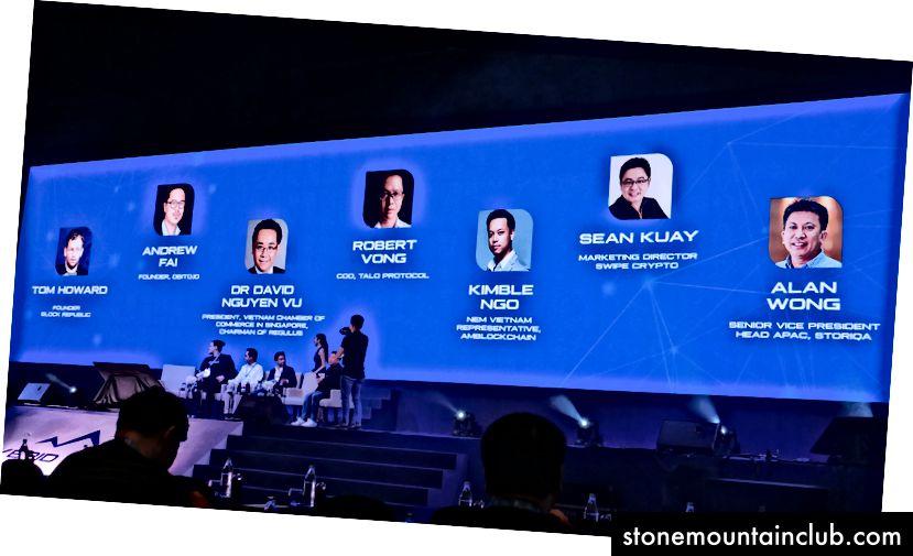Shon, SWIPE ning CSO-sida, Janubi-Sharqiy Osiyoda blockchain madaniyati haqida panelda.