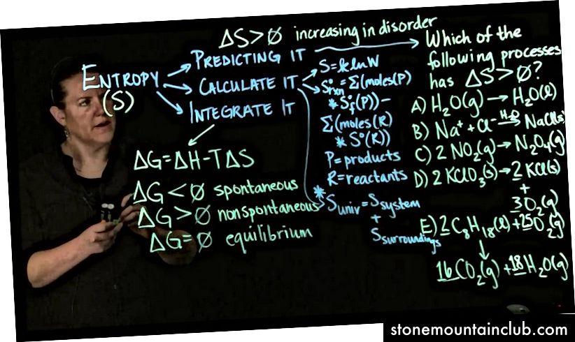 Clarissa Sorensen-Unruxning entropiya haqidagi ma'ruzasidan hanuzgacha. (C. Sorensen-Unruh / YouTube)