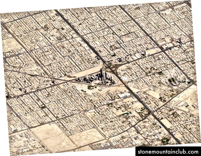 Riyoz, Saudiya Arabistoni. 10 mart, 2018 yil. Rasm © 2018 Planet Labs, Inc. cc-by-sa 4.0.
