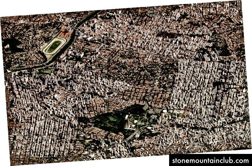 San-Paulu, Braziliya. 12 mart, 2018 yil. Rasm © 2018 Planet Labs, Inc. cc-by-sa 4.0.