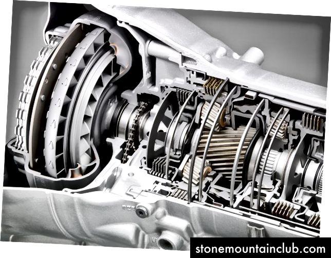 BMW 8 tezkor avtomat uzatmasi, bu juda ko'p nemis muhandislari tomonidan ishlab chiqarilgan uzatmalar. Euro Car News-dan.