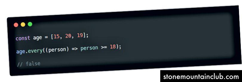 har bir () usul w / arrow funktsiyasi