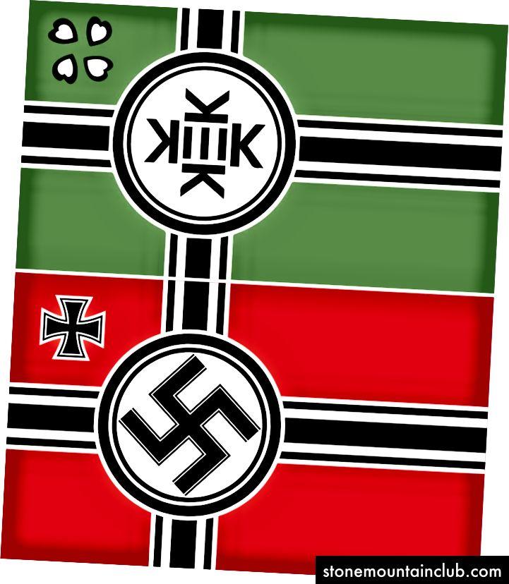 Kekistan va fashistlar urushi ordeni bayrog'i. Ammo bu fashistlarning bayrog'i emas. Uni olish?