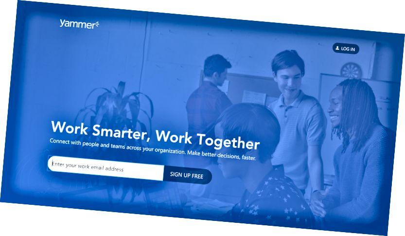 Yammer: Jeder mit einer @ company Mail kann teilnehmen.