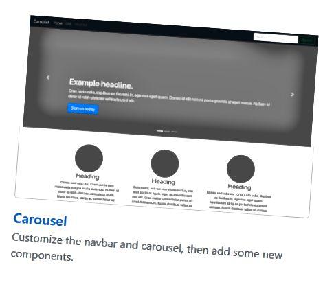 Példa egy oldalra, amelyet a Bootstrap segítségével hozhat létre