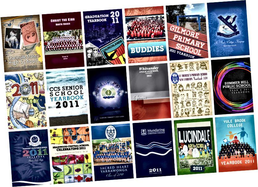आम्ही २०११ मध्ये तयार केलेल्या बर्याच वार्षिकपुस्तकांपैकी काही.