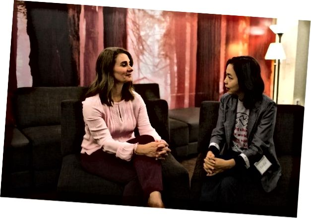 Melinda Gates και Fei-Fei Li της AIForAll. Φωτογραφία ευγενική προσφορά του Pivotal.