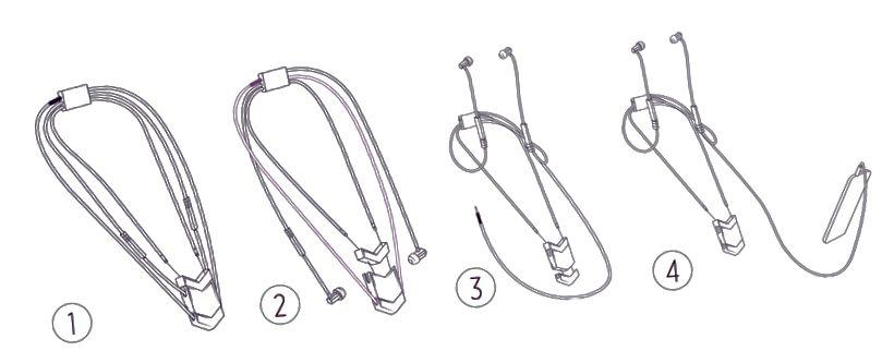 Comment transformer The Dipper du mode collier au mode écouteurs. Crédits: Jason Lorne Giles