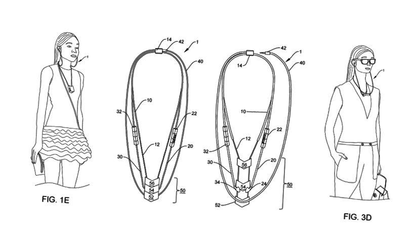 Dessins de notre brevet délivré: Dispositif électronique portable ayant des modes d'ornementation et de déploiement