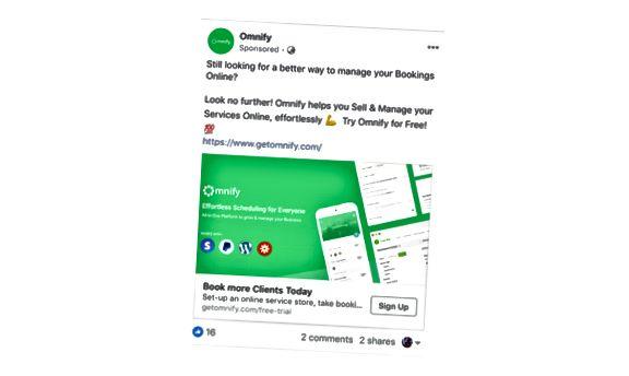 Omnify je Facebook znovu cílení reklamy